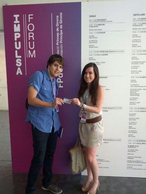 Daniel con Cirstina Fargas - El Viaje de mi Tarjeta