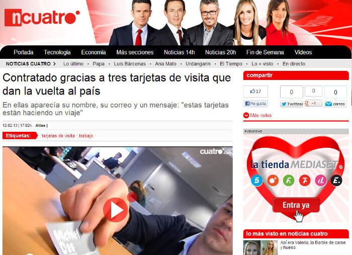 El Viaje de mi Tarjeta - Noticias Cuatro - Michiel Das