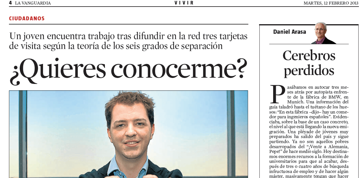 Interview Michiel Das - La Vanguardia (Spanish newspaper)