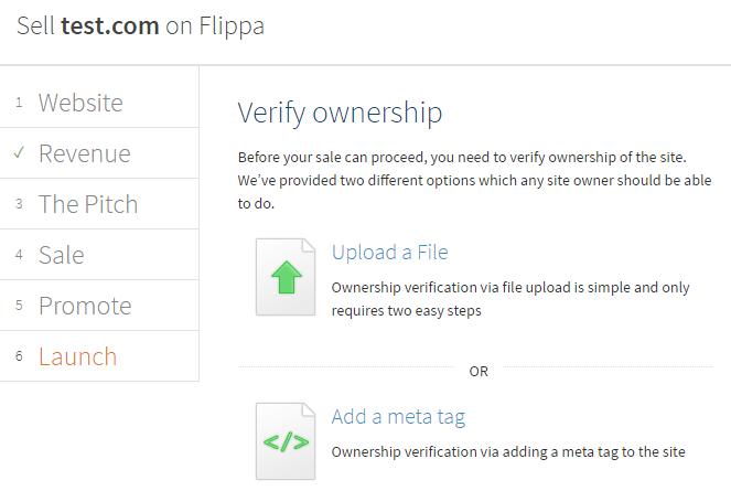 Flippa verificación web