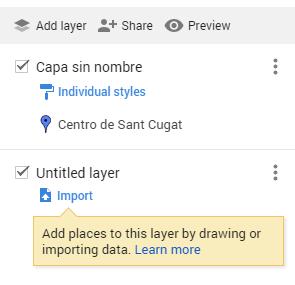 Google Maps: añadir capa