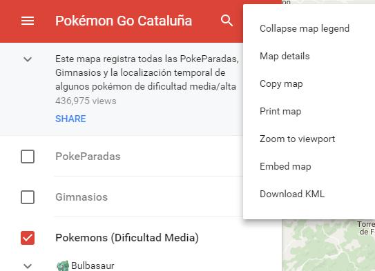 Google Maps: descargar KML