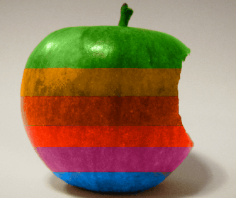 Logo Apple diferentes colores