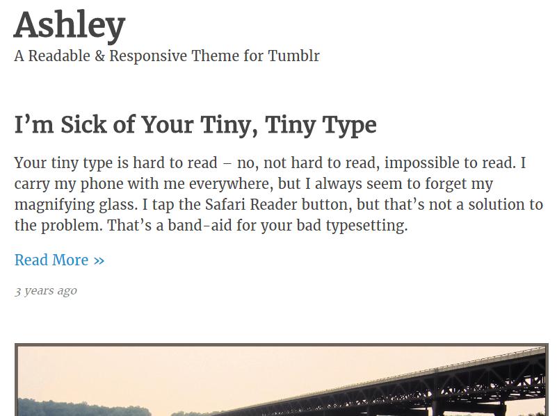 Plantilla Ashley de Tumblr